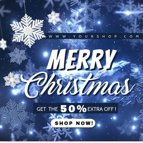 christmas editable video sale