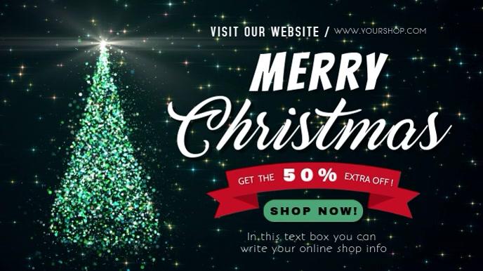 christmas editable video sale