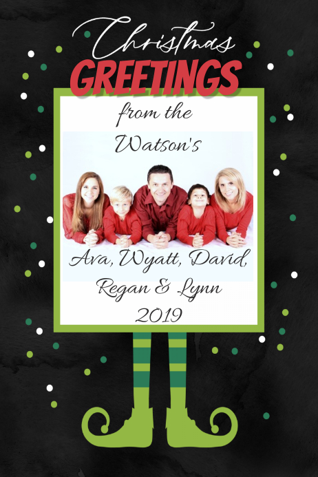 Christmas Elf Party Invitation Announcement Event Flyer Card