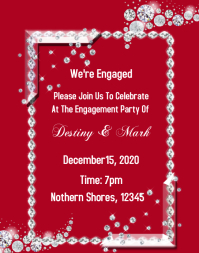 Christmas Engagement Party Poster/Wallboard template