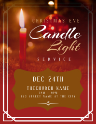 Christmas Eve Candle Light Church Service
