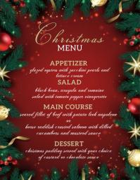 christmas eve dinner menu FLYER TEMPLATE