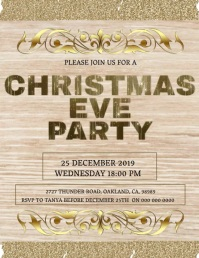 Christmas Eve Party invitation Template