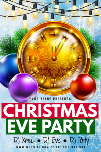 Christmas Eve Party Poster