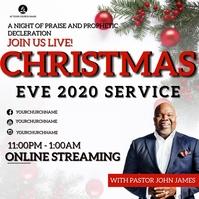 CHRISTMAS EVE SERVICE Church Event Template Kvadrat (1:1)