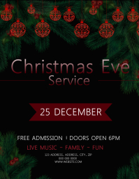 Christmas Eve Service Event Flyer Template
