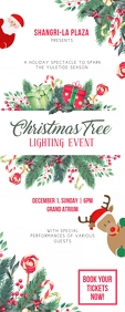Christmas Event at Mall Roll up Banner template