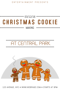 christmas event poster template christmas cookie making
