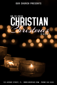 Christmas Event church Poster Template