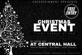 Christmas Event Concert Poster Template black landscape