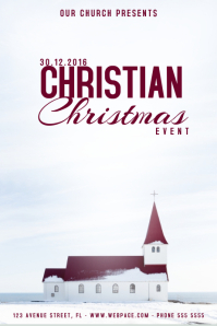Christmas Event Concert Poster Template church