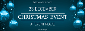 Christmas Event Concert Facebook Cover Template blue