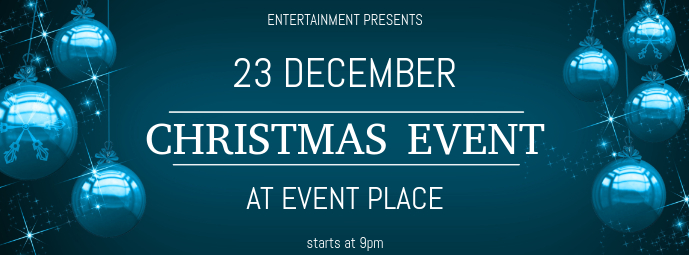 Christmas Event Concert Facebook Cover Template blue | PosterMyWall