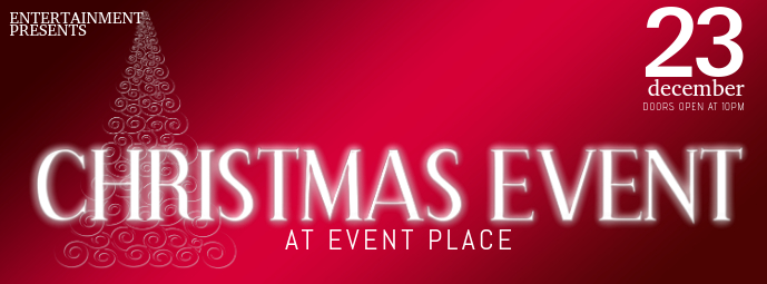 Christmas Event Concert Facebook cover Template red