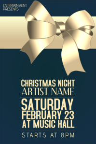 Christmas Event Concert Poster Template