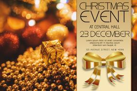 Christmas Event Concert Poster Template landscape