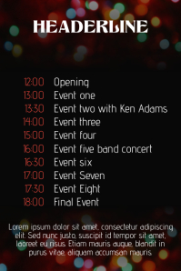 Christmas Event Concert schedule Poster Template