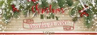 Christmas Event Fotografia de capa do Facebook template