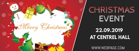 Christmas event facebook cover template