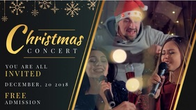 Christmas Event Facebook Cover Video