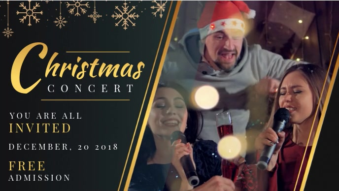 Christmas Event Facebook Cover Video template
