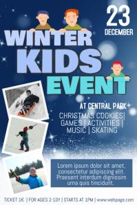 Christmas Event fair Concert Poster Template kids