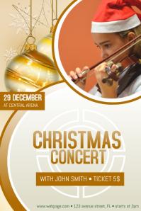 Christmas Event FEst festival Concert Poster Template kids
