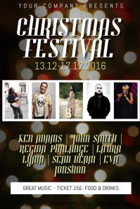 Christmas Event FEst festival Concert Poster Template