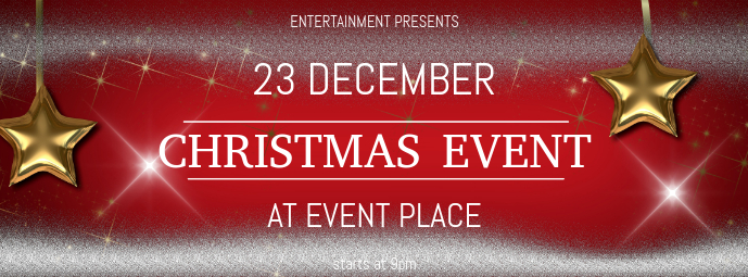 Christmas Event festival Concert facebook cover Template