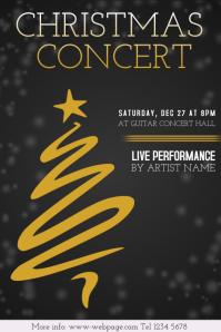 Christmas Event festival Concert Poster Template
