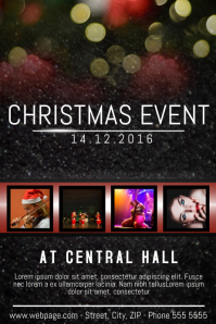 Christmas Event festival Concert Poster Template four photos