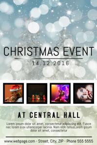 Christmas Event festival Concert Poster Template four photos