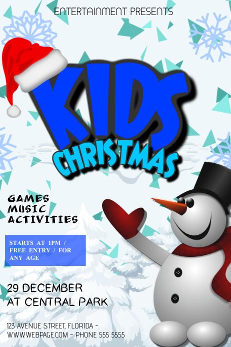 Christmas Event festival Concert Poster Template kids
