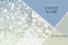 Christmas Event festival Concert Poster Template Landscape