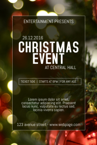 Christmas Event festival Concert Poster Template