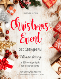 Christmas Event Flyer Folheto (US Letter) template
