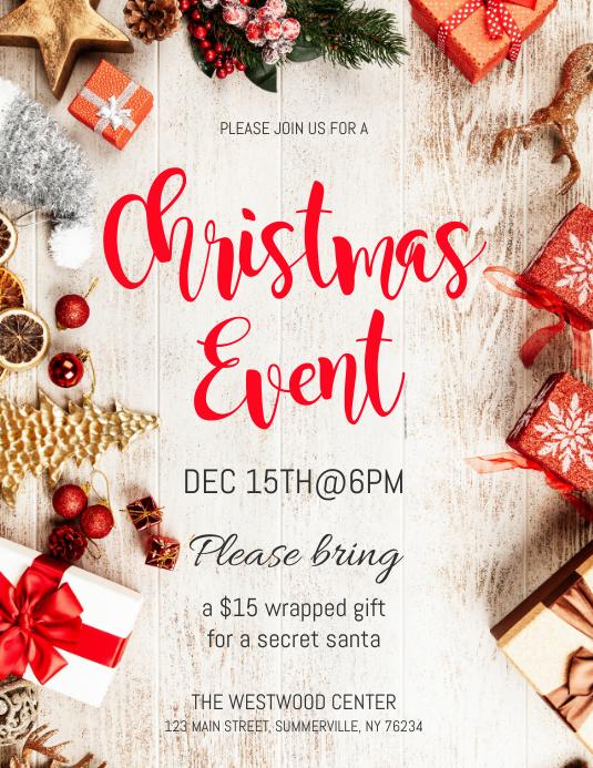 Christmas Event Flyer Iflaya (Incwadi ye-US) template