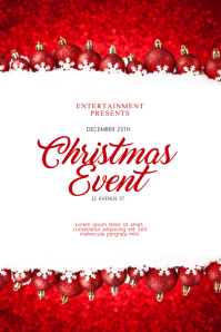 Christmas Event Flyer Design Template