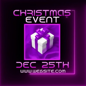 CHRISTMAS EVENT FLYER VIDEO Logo template