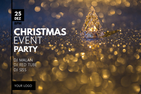 Christmas Event Header Party Lights Shine DJ