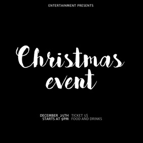 Christmas Event instagram post video tempalte