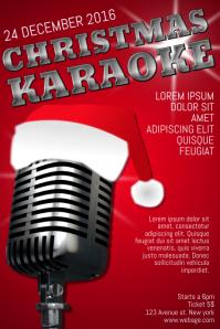 Christmas Event karaoke Concert Poster Template