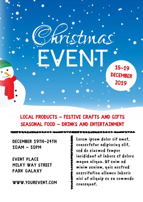 Christmas Event Market Celebration Party Ad