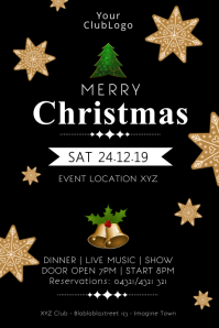 Christmas Event Party Celebration Dinner Show Poster template