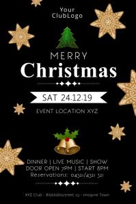 Christmas Event Party Celebration Dinner Show Cartaz template