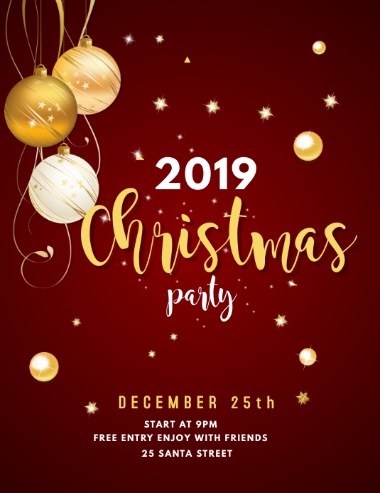 Christmas event party flyer