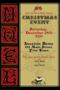 Christmas Event Party Invitation