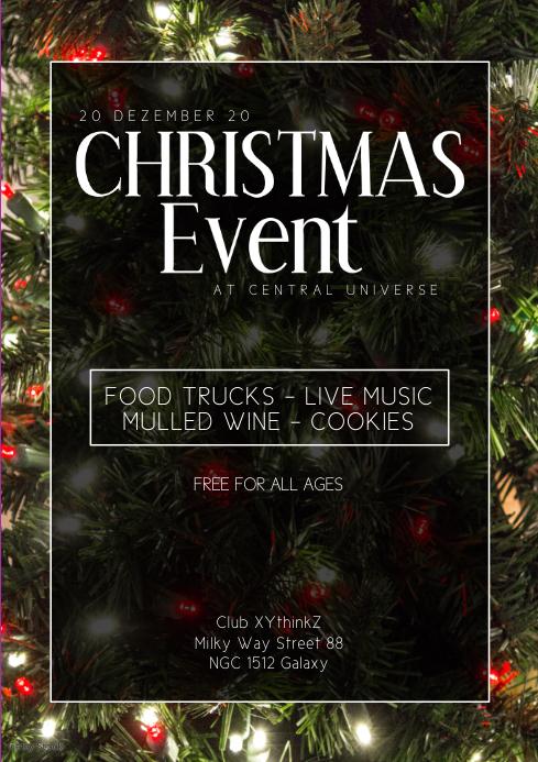 Christmas event party park market bar music