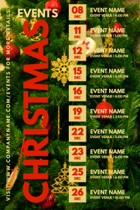 Christmas Event Schedule Template