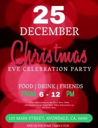 Christmas Event Video Digital Flyer Template